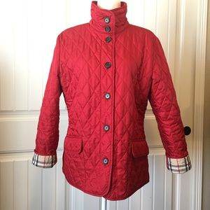 45% off Burberry Jackets & Blazers - Burberry Quilted Jacket from ... : red burberry quilted jacket - Adamdwight.com